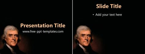 Thomas Jefferson Ppt Template Free Powerpoint Templates Jefferson Powerpoint Template
