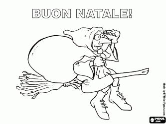 christmas in italy for kids coloring page pinterest merry with the befana the italian tradition in italian coloring page
