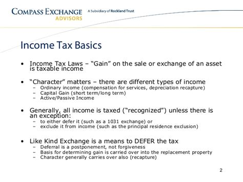 Section 1031 Like Kind Exchange Basics