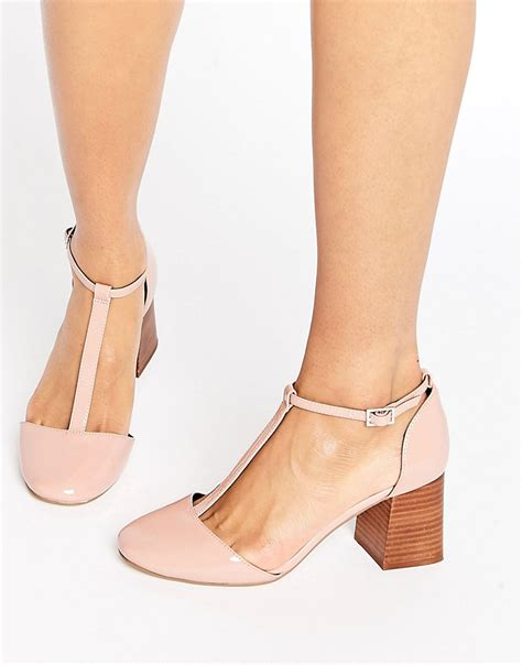 Patent Handheld Shopper From Asos by Asos One Wish T Bar Heels Pink Patent Times Uk 163