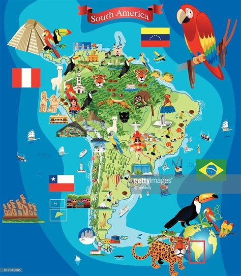 map of usa landmarks south america map vector id517079395 for of with