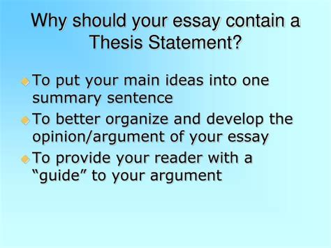 what goes in a thesis statement does thesis statement go 5 paragraph essay