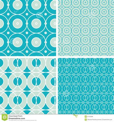 pattern matching scheme abstract geometric circles seamless patterns set royalty