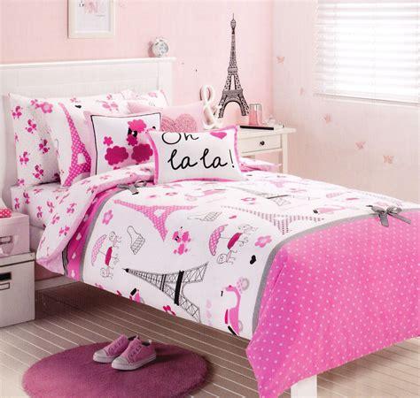 paris twin bedding pink paris eiffel tower single twin size quilt cover set