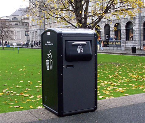 how do trash compactors work solar devices powered compacting trash can