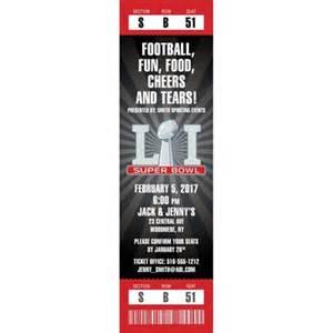 superbowl tickets 2017 super bowl 51 logo ticket invitation
