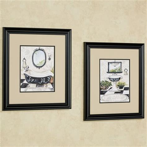 framed art for bathroom walls bath framed wall art set