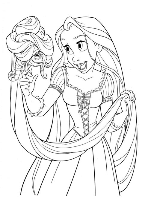 free printable tangled coloring pages for kids coloring