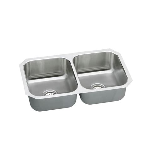 Neptune Kitchen Sink Elkay Neptune Undermount Stainless Steel 32 In Bowl Kitchen Sink Nuh3118 The Home Depot