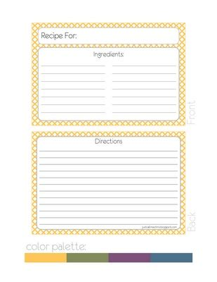 400 Best Images About Recipe Cards On Pinterest Printable Recipe Cards Free Printables And Sided Recipe Card Template