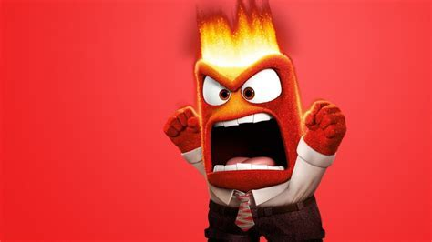 HD Background Pixar Inside Out 2015 Angry Emotion Red Boy