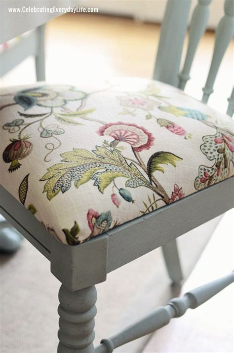 kitchen chair cushion fabric how to recover a dining room chair easily sloan