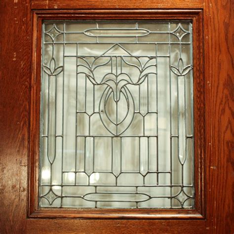 Gorgeous Antique 34 Salvaged Exterior Door With Beveled Salvaged Glass Doors