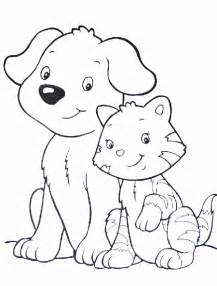coloring pages cats and dogs