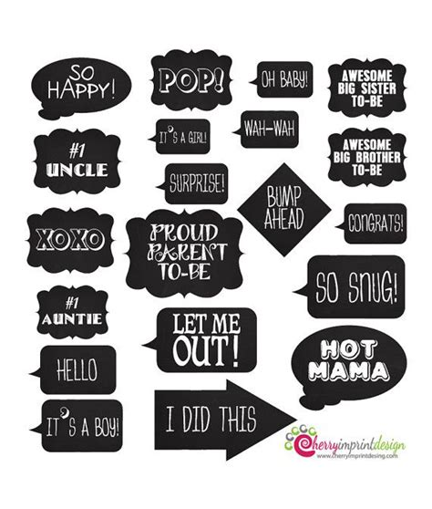 printable photo booth quotes 20 hilarious chalkboard baby shower photo prop messages