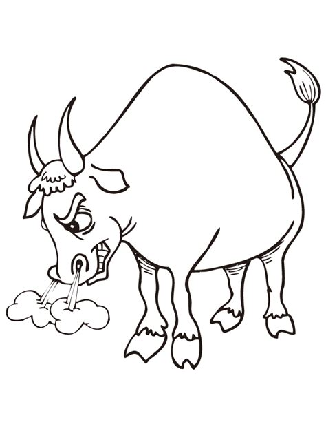 Mad Rodeo Bull Coloring Page H M Coloring Pages Bull Coloring Pages