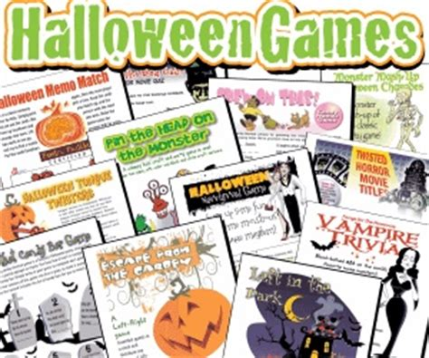 printable games for halloween party adult halloween games