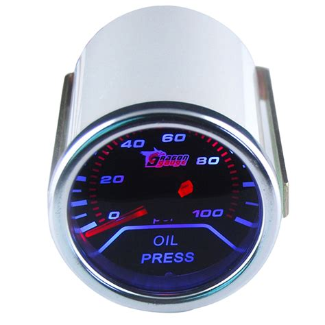 Holder Spion Motor Waterproof Log On 5 55 car motor universal smoke len 2 quot 52mm indicator press