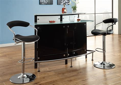 nulook furniture chrome black bar table