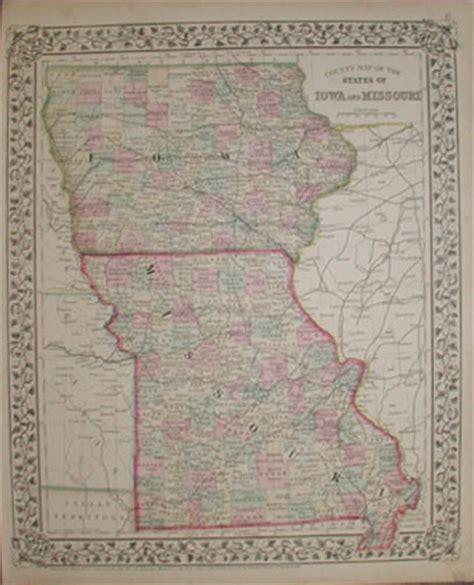 missouri border map prints iowa page