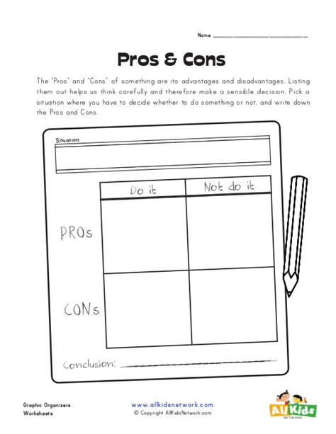 19 pros and cons worksheet template pros and cons blank