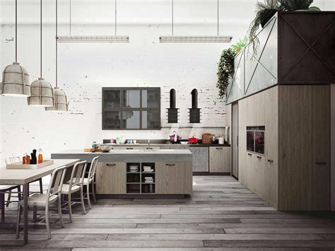 cucine per loft cucine industrial style loft di snaidero cose di casa