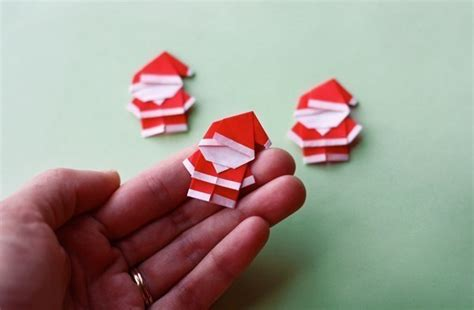 mini origami wonderful diy mini origami santa