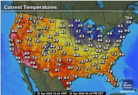 weather map usa today heat wave in the western united states indicates cooling