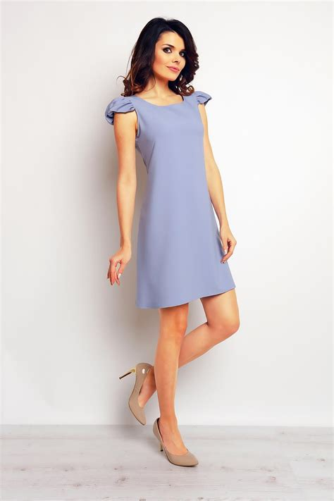 Light Blue Shift Dress by Light Blue Shift Dress With Ruffled Cap Sleeves