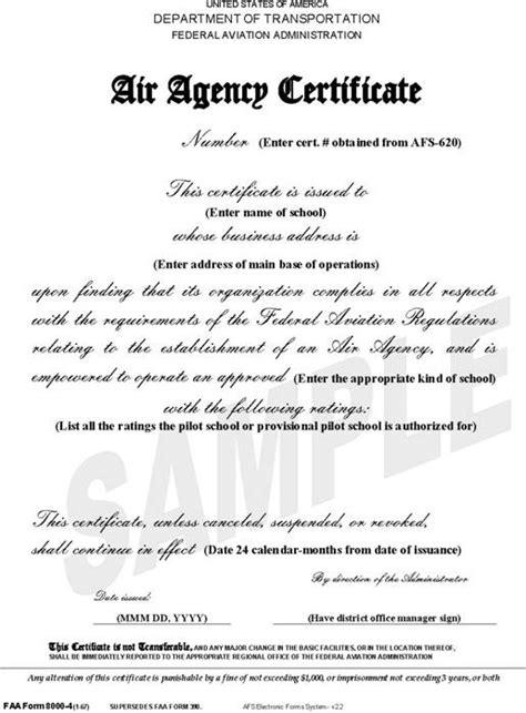 License Verification Letter Faa 02 001 004
