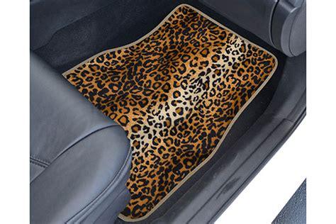 Animal Print Car Mats by Proz Animal Print Floor Mats 1 Animal Printed Car Mat Set