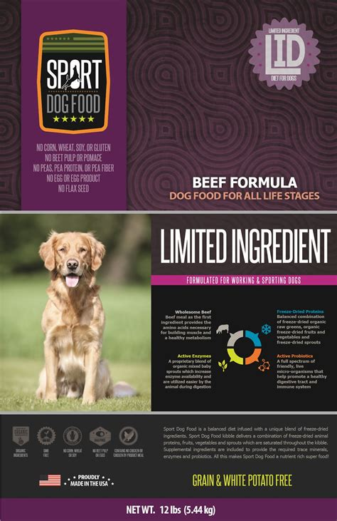 sport food elite sport food elite limited ingredient diet beef formula grain free pea free