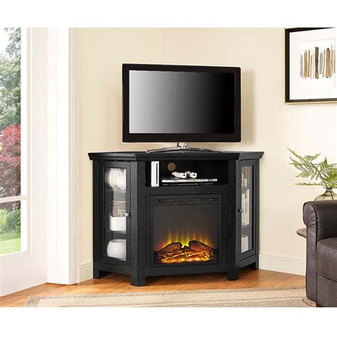 corner fireplace tv stand walker edison corner fireplace tv stand for 50 inch