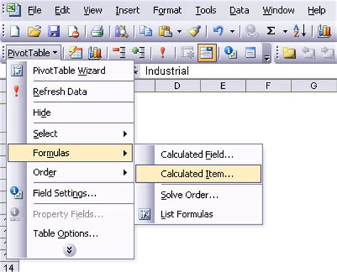 Pivot Table Calculated Item by Excel Pivot Table Calculated Field If Statement Text