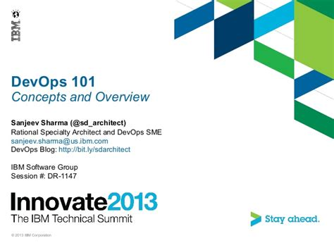 Ibm Innovate 2013 Session Devops 101 Ibm Powerpoint Template