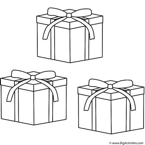 christmas gifts coloring page christmas