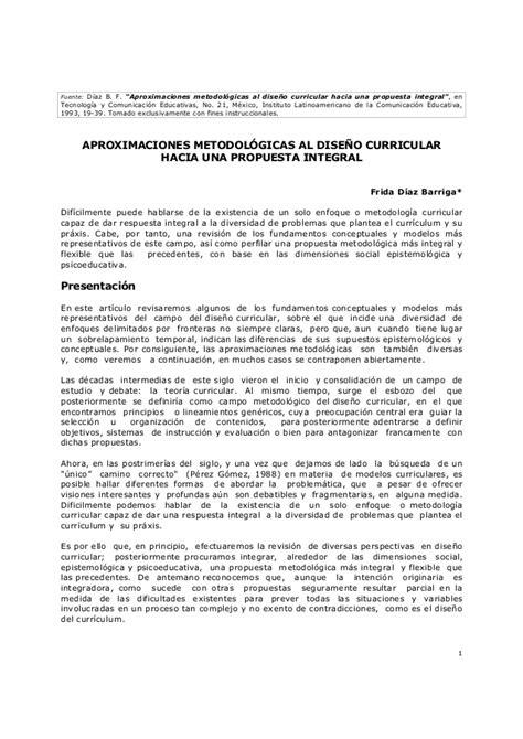 Modelo Curricular Segun Aprox Metod De Diseno Curricular 1