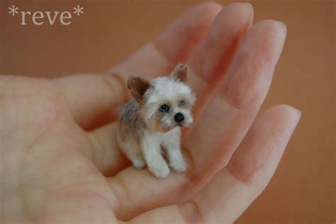 mini yorki miniature terrier handmade sculpture by reveminiatures on deviantart