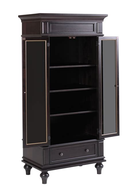 glass armoire furniture walton hills armoire with glass in door ohio hardword upholstered furniture