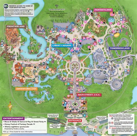 walt disney world announces new maps for the magic kingdom
