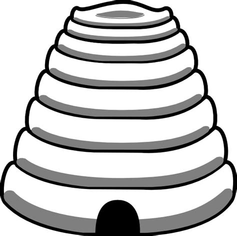 beehive template bee hive outline clip at clker vector clip