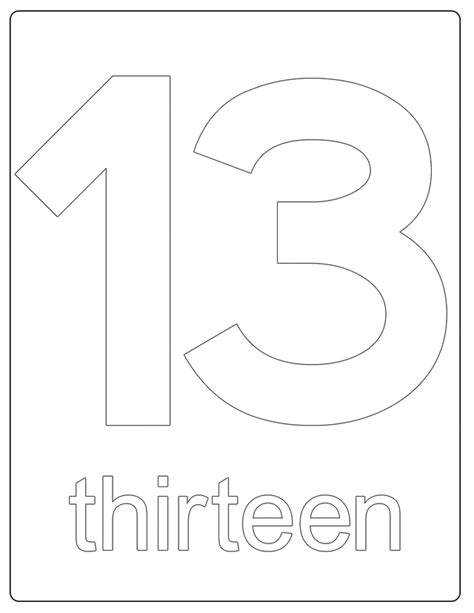 coloring pages for the number 13 redirecting to http www sheknows com parenting slideshow