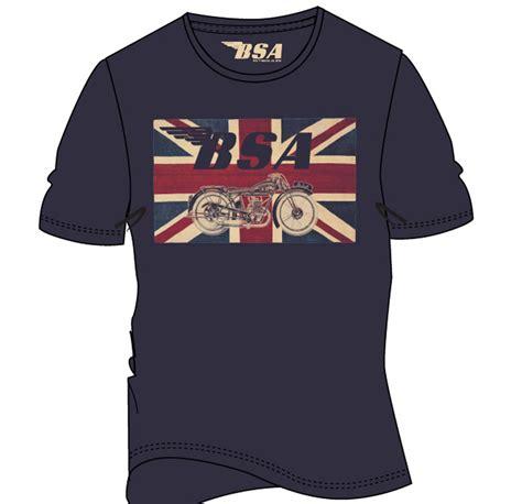 Tshirt Bsa official t shirt bsa motorbike blue union