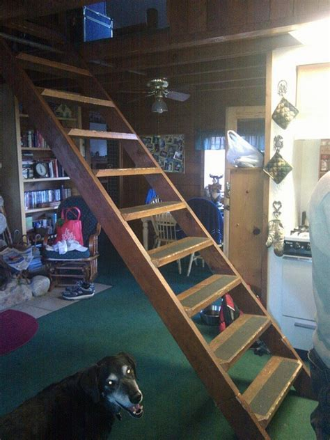 Garage Pull Stairs by Stairs Wish List And On