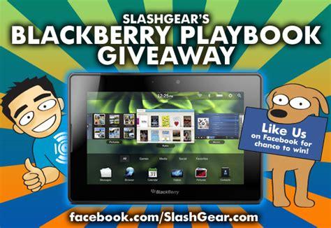 Blackberry Giveaway - slashgear blackberry playbook giveaway slashgear