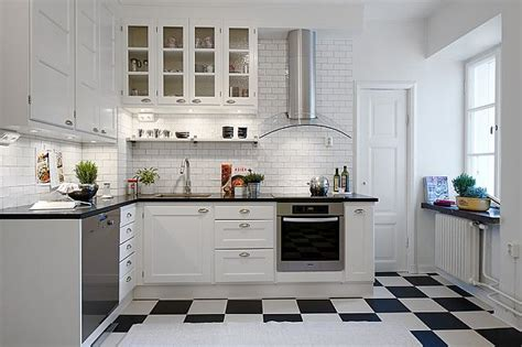 Black And White Tile Floor Kitchen by 5 1 Condominium In 233 Staden With Modern Accessories