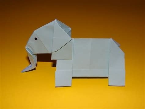How To Make An Elephant With Paper - how to make an origami elephant