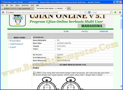 membuat web ujian online source code ujian online php bunafit komputer