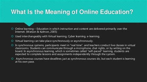online tutorial meaning online education