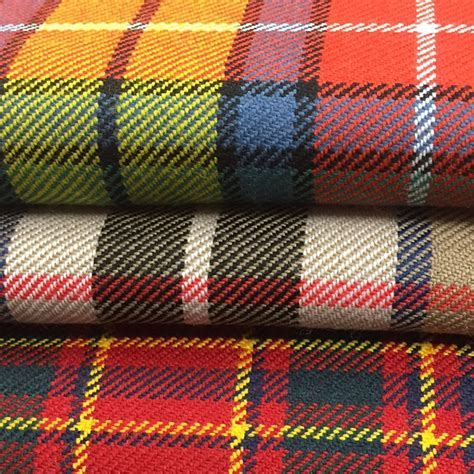 Upholstery Fabric Tartan 10oz Pure Wool Tartan Fabric In 500 Tartans Scotlandshop